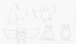 Owl Character Sketches